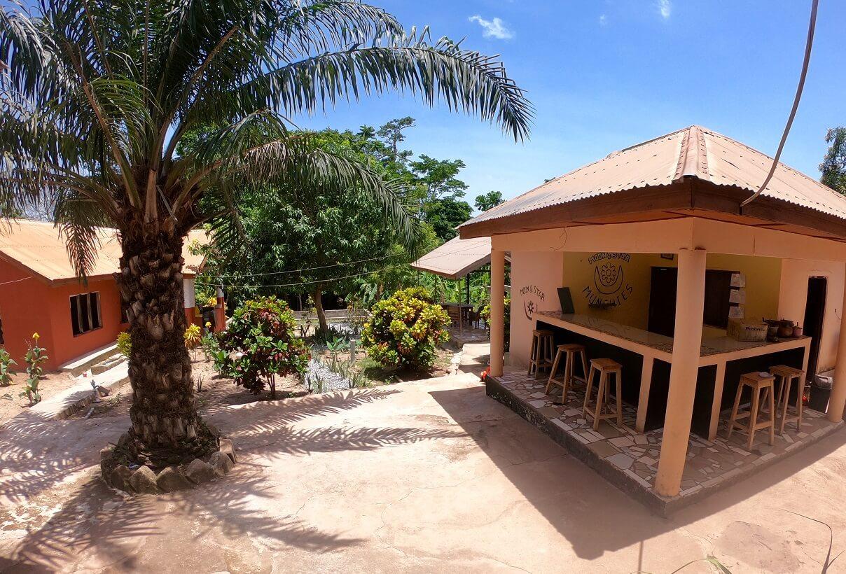 bar and garden Moon&Star guesthouse Ashanti Ghana