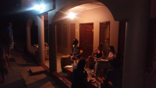 Drum night in our hotel in Ghana