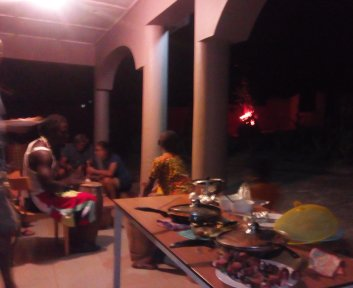 Great food in our Guesthouse in Ghana
