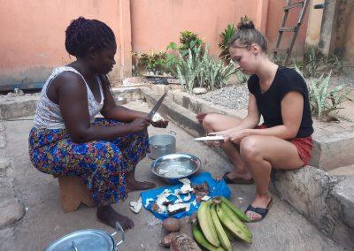 traditionele kookles tijdens de ashanti tour