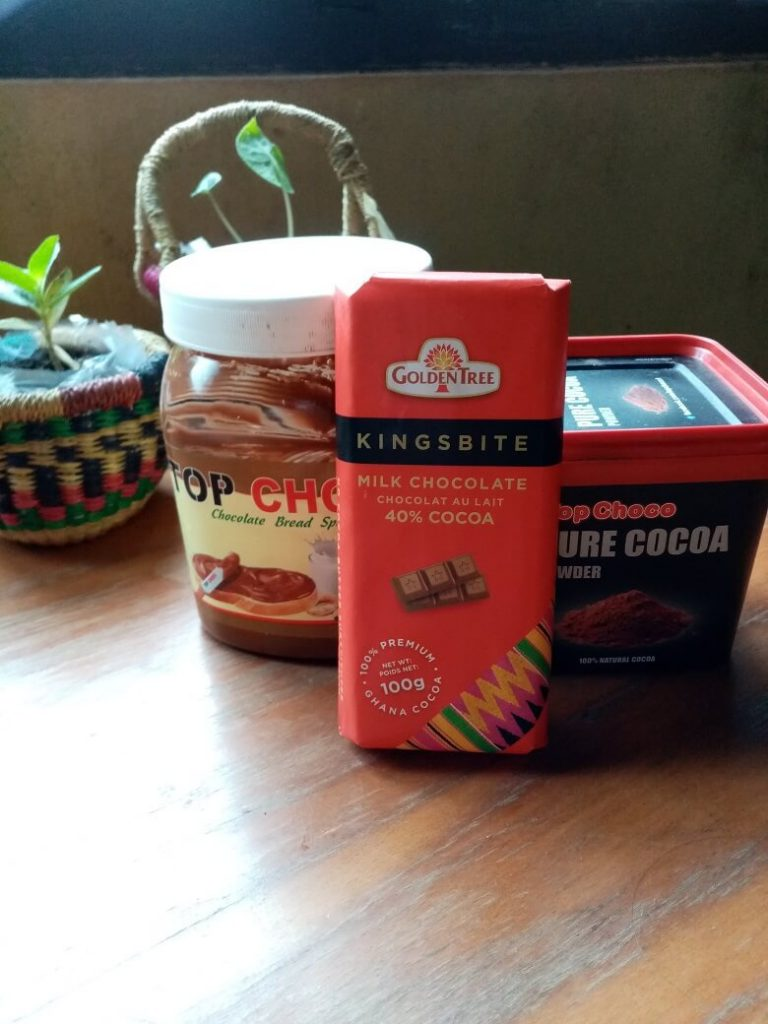 Ghanaian made chocolate products