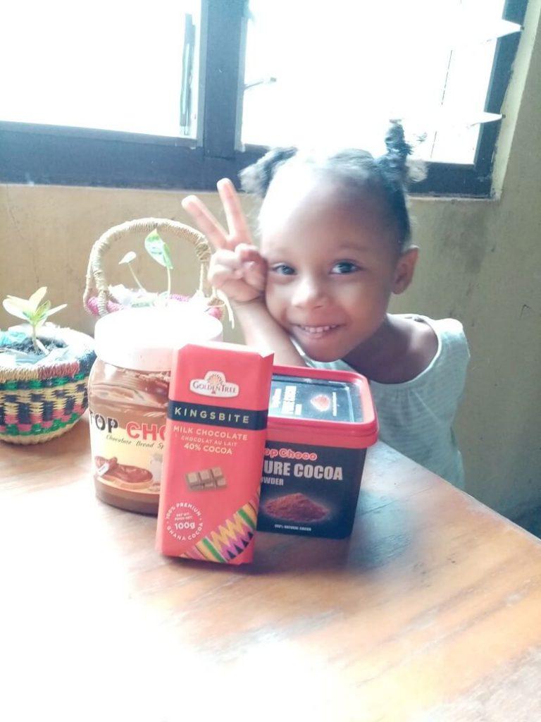 The children love the Ghanaian chocolate