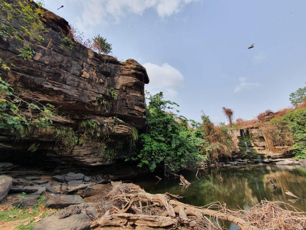 dry waterfall in Ghana