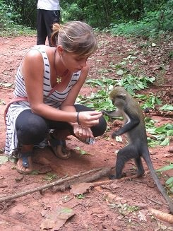 Visit monkeys during your Ghana tour