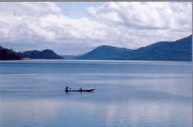 A small boat in lake Volta.