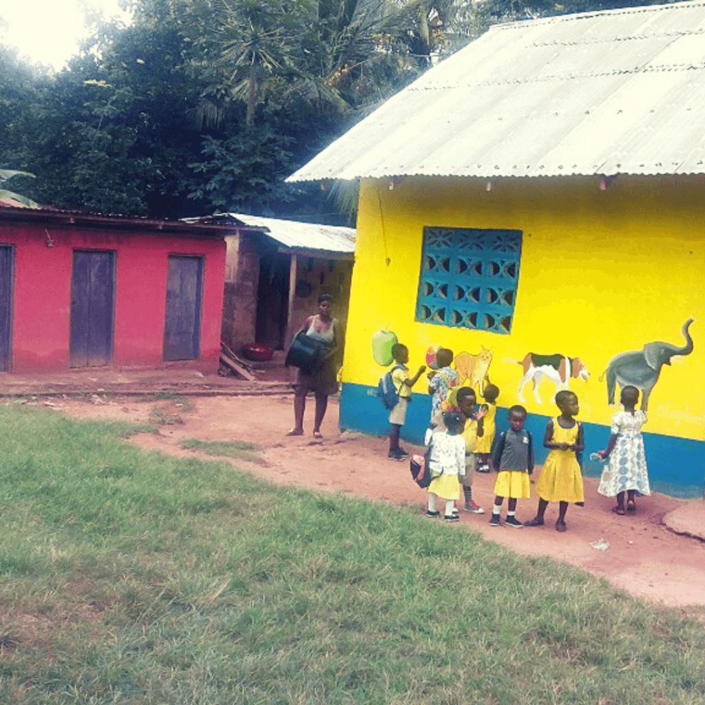 Methodist school Banko, 1 van de vrijwilligerswerk projecten in Afrika die we ondersteunden en deel uit maken van onze sociale missie
