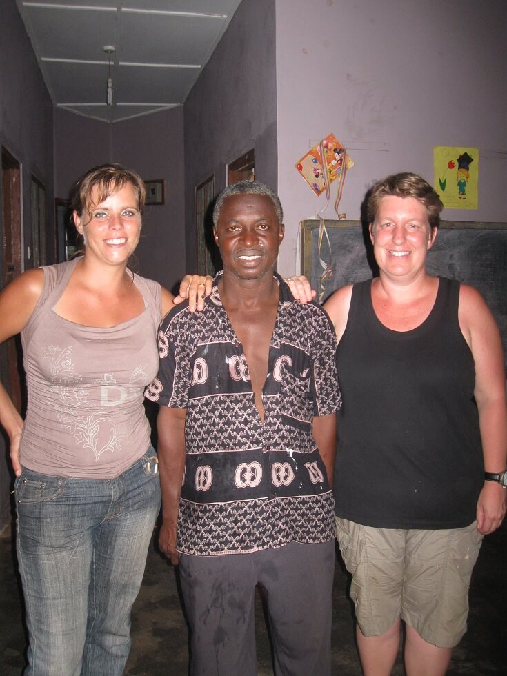 Pat, Alex and Anja, working together with Crossing borders for Ghana is part of our social mission