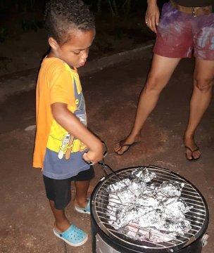 BBQ bij ons hotel in Ghana