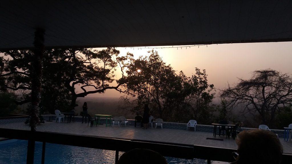 uitzicht vanaf het restaurant van Mole motel