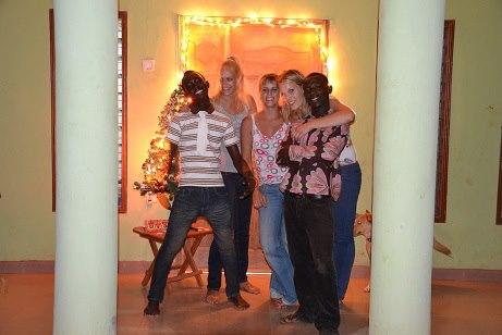 kerstfoto's met vrijwilligers