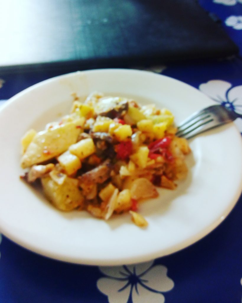 aardappeltjes met groente