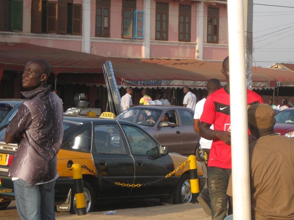 lokale taxi in Kumasi