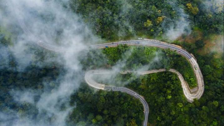 foto vanuit de lucht Kwahu district