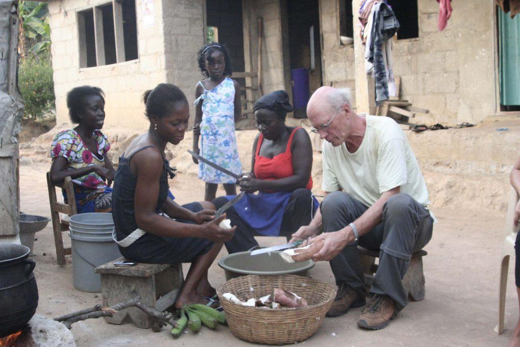 Reis door Ghana fufu workshop