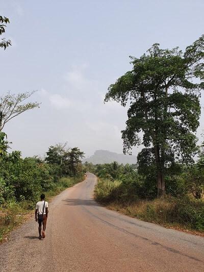 wandeling van dorp naar dorp